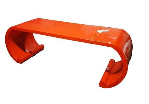 Fine Asianliving Tavolino Cinese in Legno Scorrimento Rosso
