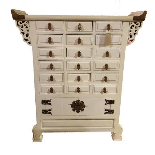 Chinese medicine cabinet White