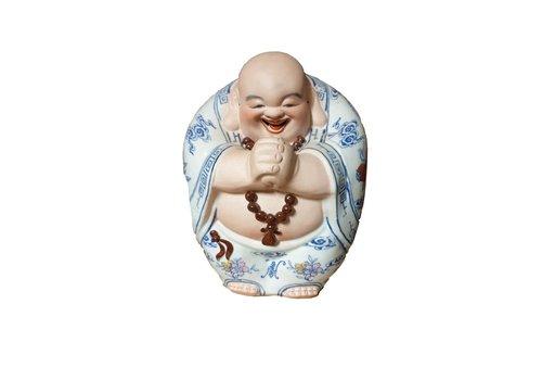 Fine Asianliving Lucky Chinese Boeddha Porselein Handgemaakt Geluk