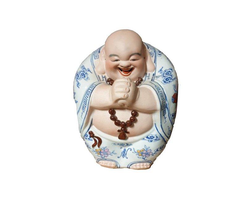 Lucky Chinese Boeddha Porselein Handgemaakt Geluk