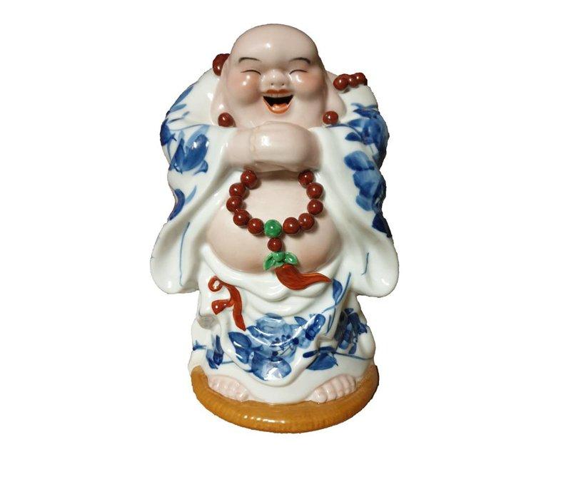 Lucky Chinese Boeddha Porselein Handgemaakt Geluk Staand