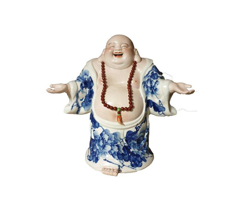 Lucky Chinese Boeddha Porselein Handgemaakt Welkom Staand