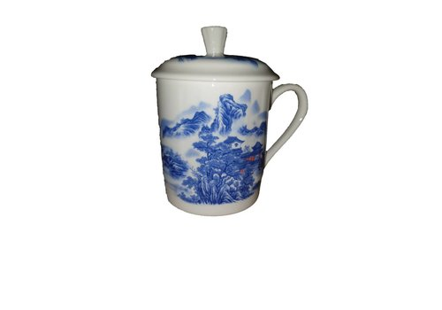 Fine Asianliving Tea Mug Blue gebergte White huis