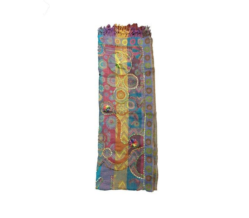 Nepal handgemaakte sjaal kleurrijk
