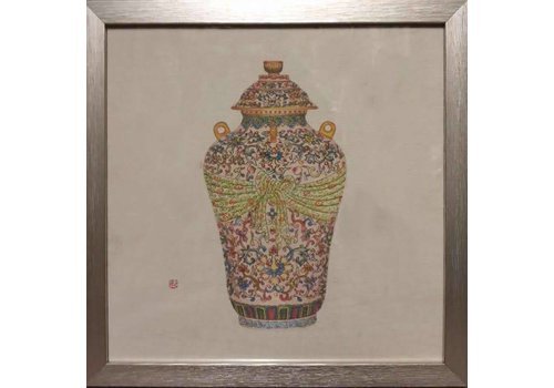 Fine Asianliving Painting Chinese Pot