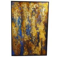 Olieverf Schilderij met Bladgoud Contemporary Art Handgemaakt