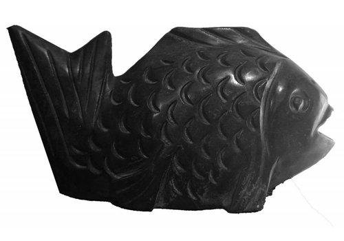 Fine Asianliving Stenen Vis Zwart