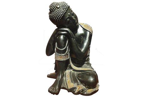Fine Asianliving Slapende Boeddha op Knie zwart