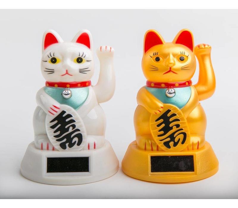 Lucky Cat Maneki Neko Zon Energie Wit Groot