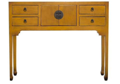 Fine Asianliving PREORDER WEEK 38 Fine Asianliving Chinees Sidetable Vintage Yellow