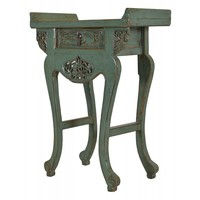Chinees Sidetable Met Carvings Mint (1900-1925) - Shanxi, China