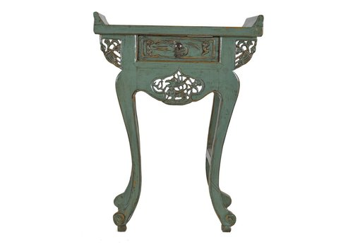 Fine Asianliving Chinees Sidetable Met Carvings Mint - Shanxi, China