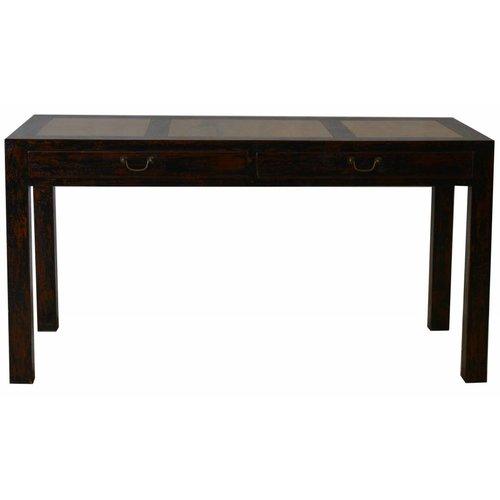 Tiroirs blancs de surface de marbre de table latérale chinoise - Pékin