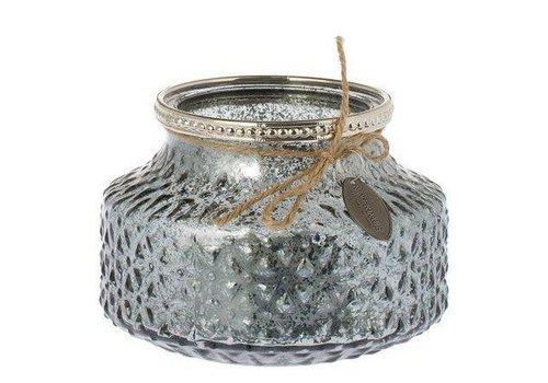 Fine Asianliving Riverdale glazen kaarsenhouder met structuur