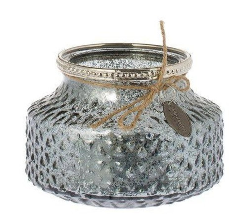Riverdale glass candle holder White structure