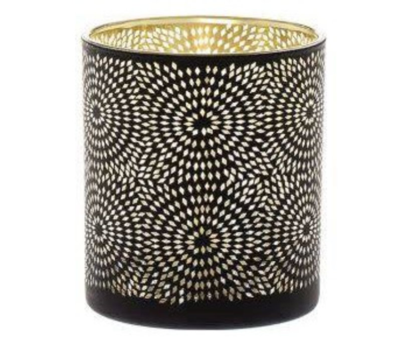 Sfeerlicht Sparkle zwart 10cm