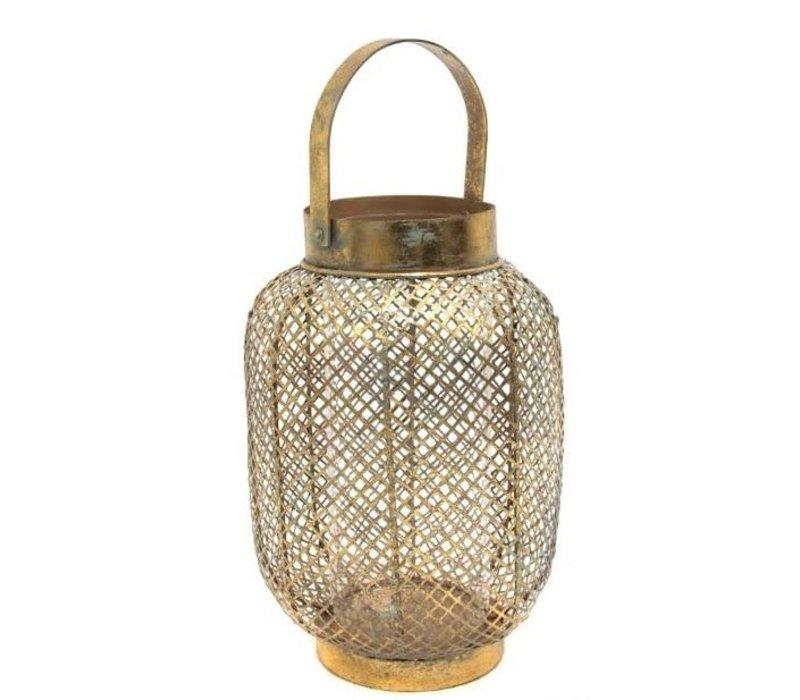 Gold Lantern with Square pattern M