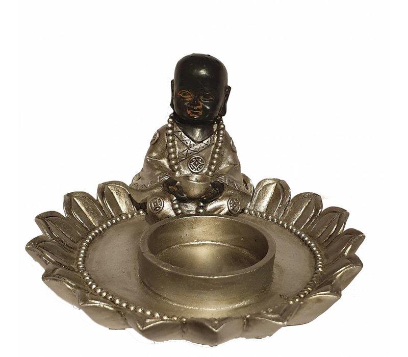Zittende Monnik In Lotus Kaarshouder