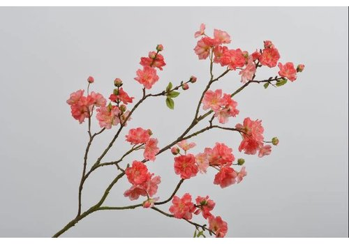 Fine Asianliving Blossom branch coral 104 cm
