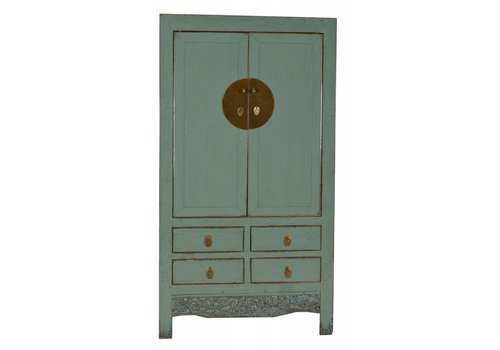 Fine Asianliving Antique Chinese Bridal Cabinet HandPainted Mint - Shanxi