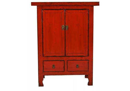 Fine Asianliving Chinese Cabinet Red Glassy  - Shanxi, China
