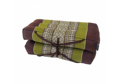 Fine Asianliving Fine Asianliving Thai Cushion Yogaseat 40x40x7cm (Folded) Meditation Pillow Block Kapok Green
