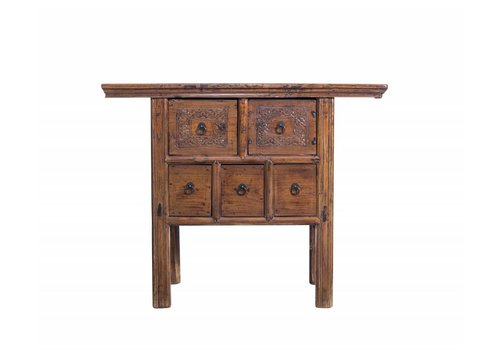 Fine Asianliving Sidetable White Drawers - China