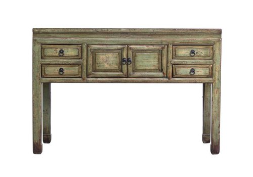 Fine Asianliving Fine Asianliving Oude Chinese Sidetable-Vintage Groen