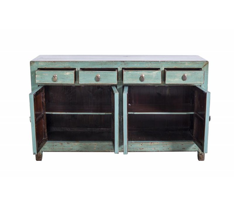Fine Asianliving Antique Chinese Cupboard Turquoise