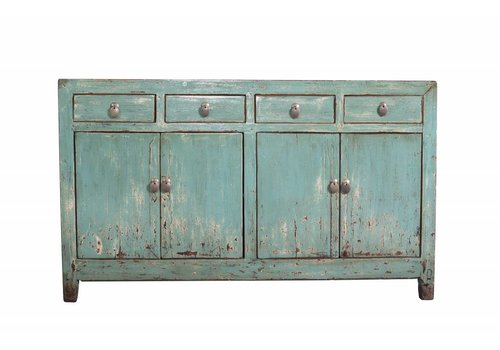 Fine Asianliving Antieke Chinese Dressoir Turquoise
