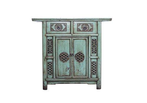 Fine Asianliving PREORDER Fine Asianliving Antiek Chinees Kastje Met Details (1919-1925) Turquoise  - China