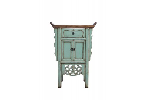 Fine Asianliving Small Turquoise Chinese Sidetable