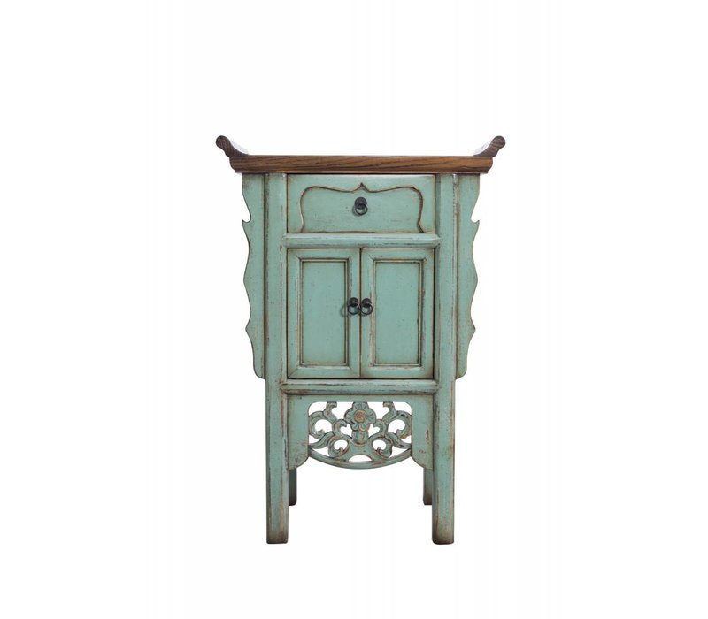 Kleine Turquoise Chinese Sidetable