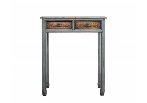 Fine Asianliving Small colorful Chinese Sidetable White two drawers