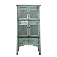 Fine Asianliving Antieke Chinese Kast Turquoise