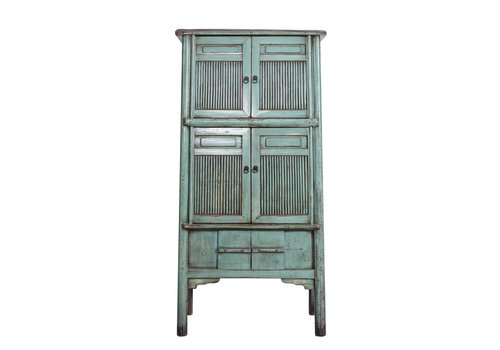 Fine Asianliving PREORDER Antieke Chinese Kast (1919-1925) - China Turquoise