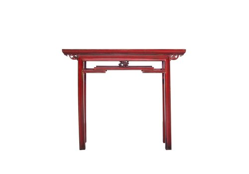 Fine Asianliving Rode Chinese Sidetable
