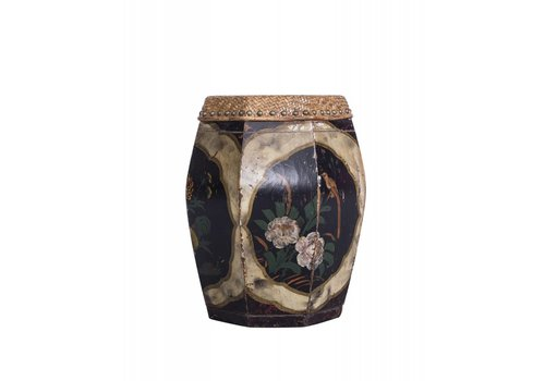 Fine Asianliving Fine Asianliving Stool with Flower Painting  - China