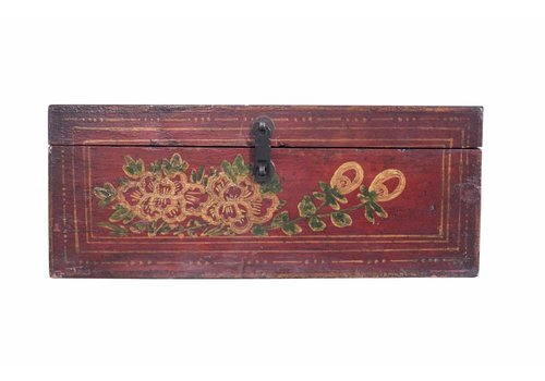Fine Asianliving Fine Asianliving Red storage chest White painting - China