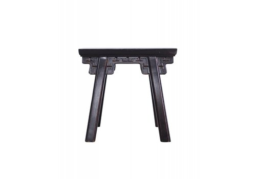 Fine Asianliving Fine Asianliving Chinese Black Stool with Details