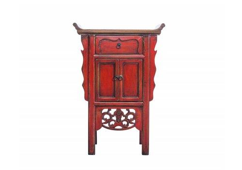 Fine Asianliving Klein Rood Chinees Sidetable Met Details