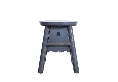 Fine Asianliving Fine Asianliving Chinese Purple Stool with Drawer