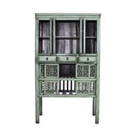 Armoire Chinoise Antique Mint Sculptée à la Main (1919-1929)