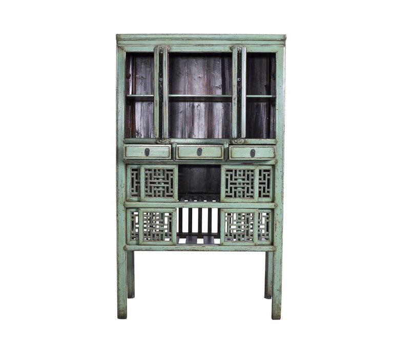 Antieke Chinese Kast Met Handsnijwerk Mint