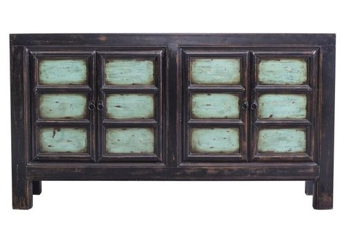 Fine Asianliving Chinese Sideboard Large Black and Blue