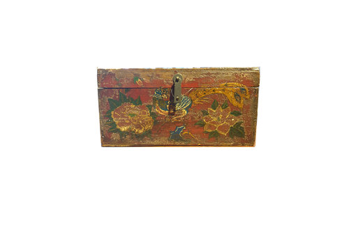 Fine Asianliving Fine Asianliving Small Chinese storage box Peacock