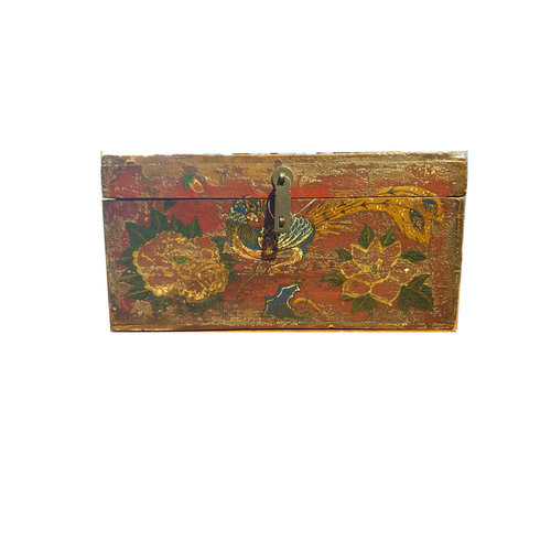 Fine Asianliving Small Chinese storage box Peacock