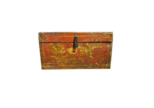 Fine Asianliving Fine Asianliving Small Chinese Storage Box Peacock and Dragon