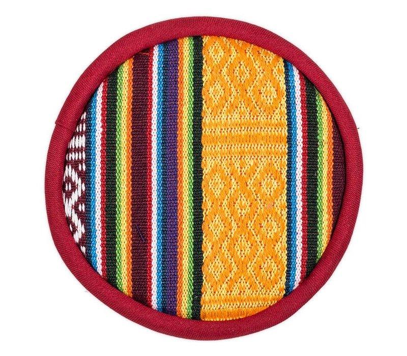 Singing Bowl Cushion plat Tribal design