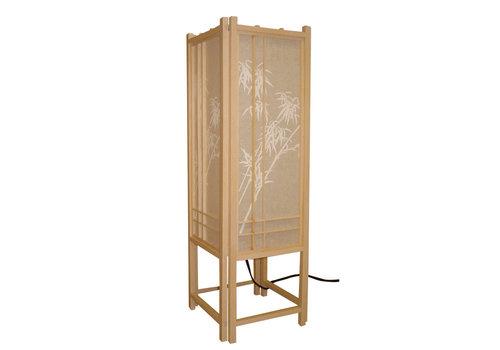 Fine Asianliving Japanse Tafellamp Rijstpapier Shoji Arashiyama Bamboe Natural